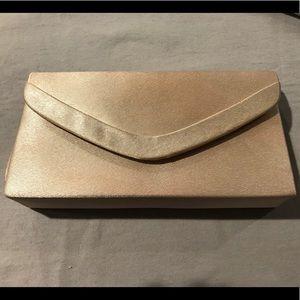 Satin Gold Evening Bag